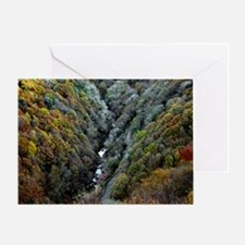 Lynmouth Valley in autumn Greeting Card