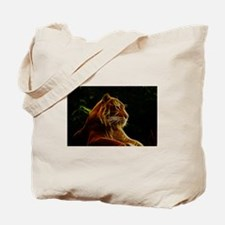 Abstract Bengal Tiger Woodcut Tote Bag