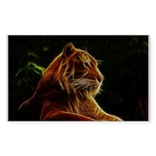 Abstract Bengal Tiger Woodcut Decal