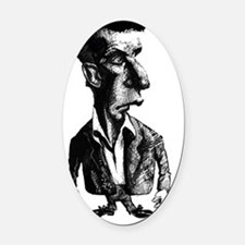 Ludwig Wittgenstein, caricature Oval Car Magnet
