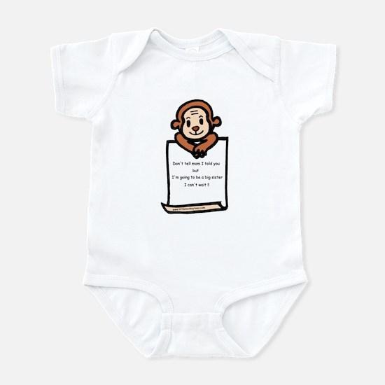 Lett- monkey-big sister Infant Bodysuit