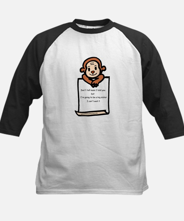 Lett- monkey-big sister Kids Baseball Jersey