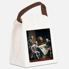 Louis XVI and La Perouse, artwork Canvas Lunch Bag