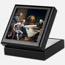 Louis XVI and La Perouse, artwork Keepsake Box