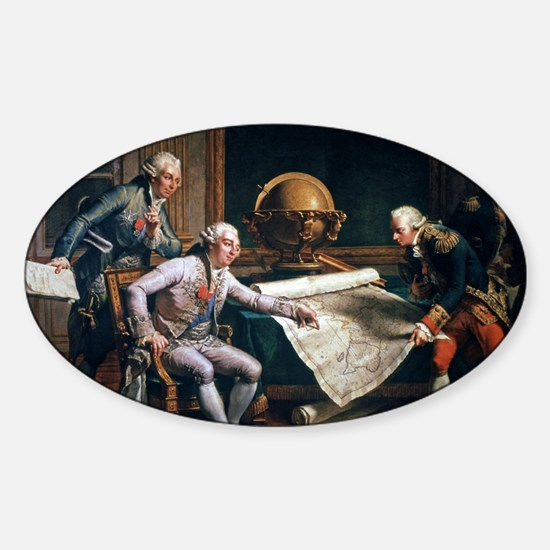 Louis XVI and La Perouse, artwork Sticker (Oval)