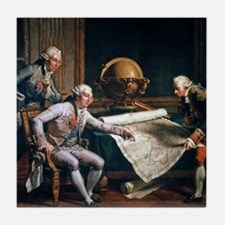 Louis XVI and La Perouse, artwork Tile Coaster