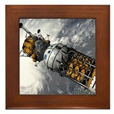 Lunar tug and lander, artwork Framed Tile