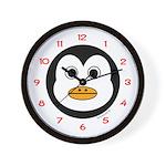 Percy the Penguin Wall Clock