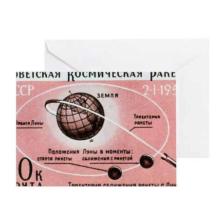 Luna 1 commemmorative stamp Greeting Card
