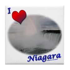 I Love Niagara Falls Tile Coaster