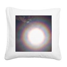 Lunar corona Square Canvas Pillow