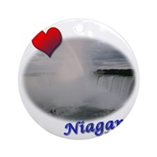 I Love Niagara Falls Round Ornament