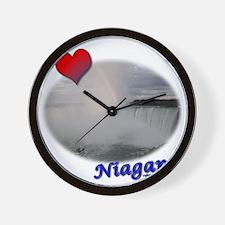 I Love Niagara Falls Wall Clock