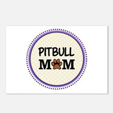 Pitbull Dog Mom Postcards (Package of 8)