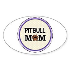 Pitbull Dog Mom Decal