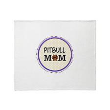 Pitbull Dog Mom Throw Blanket