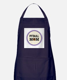 Pitbull Dog Mom Apron (dark)