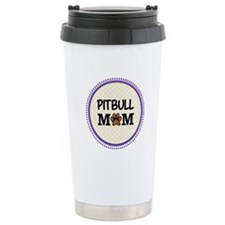 Pitbull Dog Mom Travel Mug