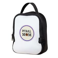 Pitbull Dog Mom Neoprene Lunch Bag