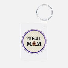 Pitbull Dog Mom Keychains