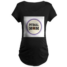 Pitbull Dog Mom Maternity T-Shirt