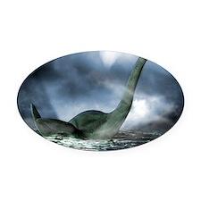 Loch Ness monster, artwork Oval Car Magnet