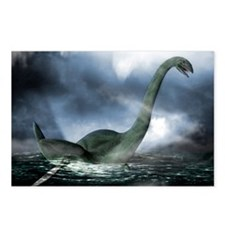 Loch Ness monster, artwor Postcards (Package of 8)