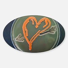 Love, microbial art Sticker (Oval)