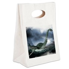 Loch Ness monster, artwork Canvas Lunch Tote