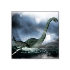 "Loch Ness monster, artwork Square Sticker 3"" x 3"""