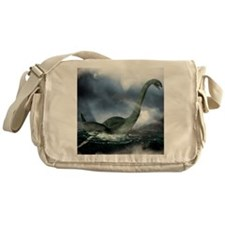 Loch Ness monster, artwork Messenger Bag