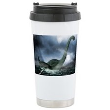 Loch Ness monster, artwork Travel Mug