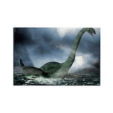 Loch Ness monster, artwork Rectangle Magnet