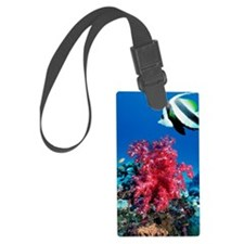 Longfin bannerfish and soft cora Luggage Tag