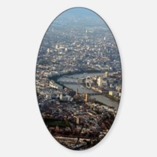 London, UK, aerial photograph Decal