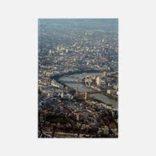 London, UK, aerial photograph Rectangle Magnet