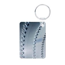 Linked holes in aircraft c Aluminum Photo Keychain