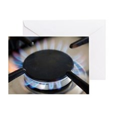 Lit gas ring Greeting Card