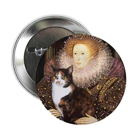 "The Queen's Calico Cat (#1) 2.25"" Button (100 pack"