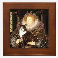 The Queen's Calico Cat (#1) Framed Tile