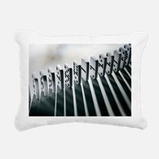 Lined up dominoes Rectangular Canvas Pillow