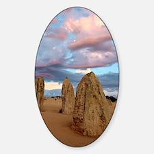 Limestone pinnacles at dusk, Austra Sticker (Oval)