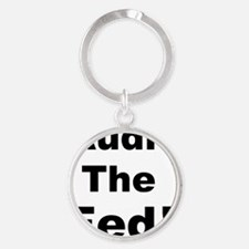 Audit the fed Round Keychain