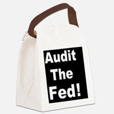 Audit the feddbutton Canvas Lunch Bag