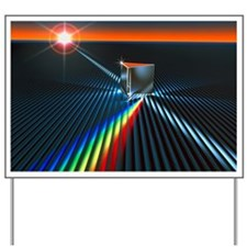 Light split into colours by a prism Yard Sign