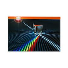 Light split into colours by a pri Rectangle Magnet