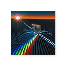 "Light split into colours by Square Sticker 3"" x 3"""