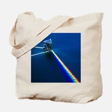 Light passing through prism Tote Bag