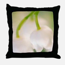 Lily of the valley (Convallaria majal Throw Pillow
