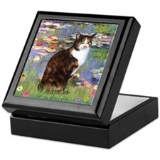 Lilies & Calico Cat Keepsake Box